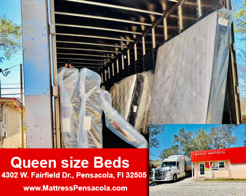 Queen size beds in Pensacola, Florida!