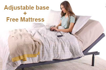 Queen adjustable bed and Free Mattress
