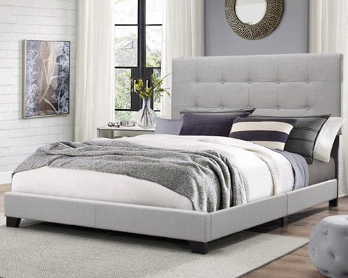 Queen bed size with headboard, footboard and rails FL70
