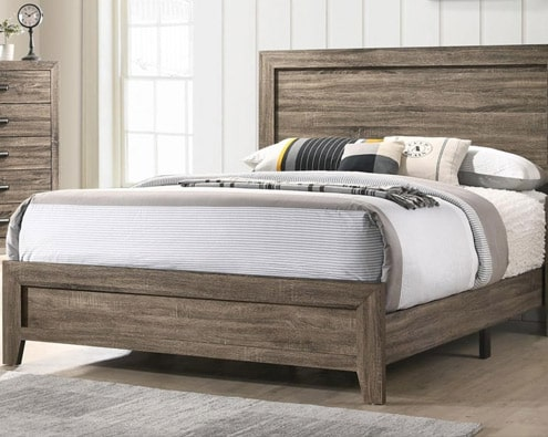 Bed King size WOOD Frame Lemn70